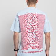 PLEASURES Joy Division Up T-shirt světle modré / červené
