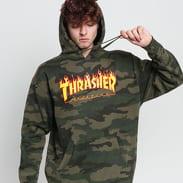 Thrasher Flame Hood camo zelená