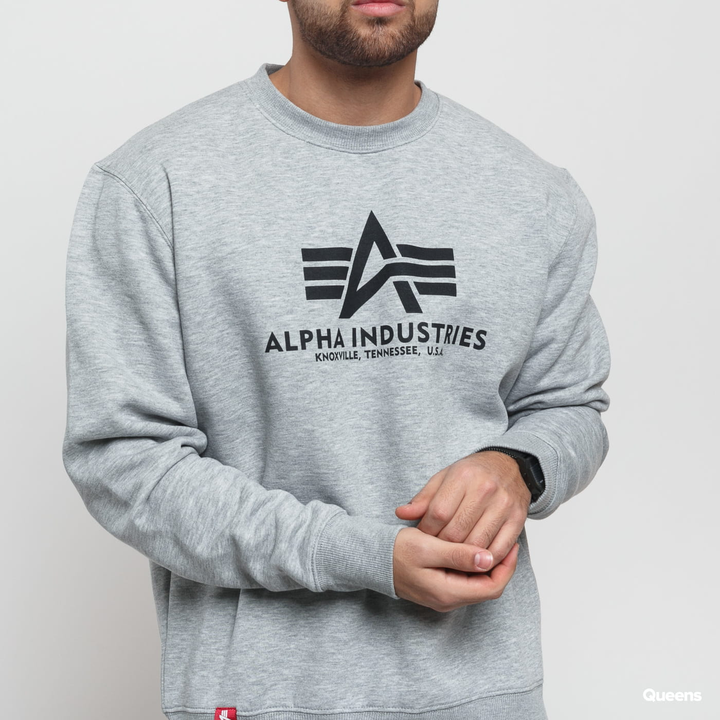 Alpha Industries Basic Sweater šedá