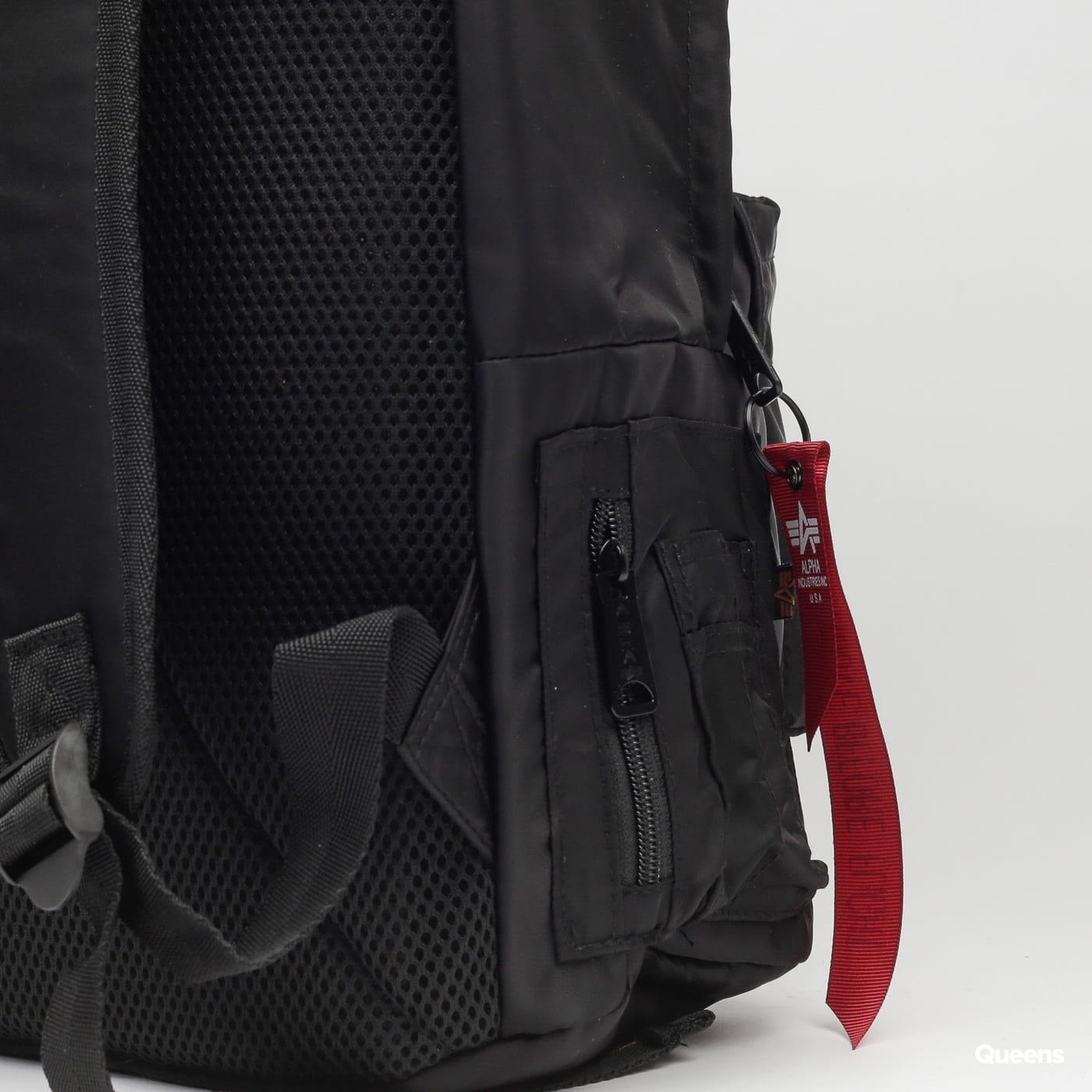 Alpha Industries Crew Backpack čierny