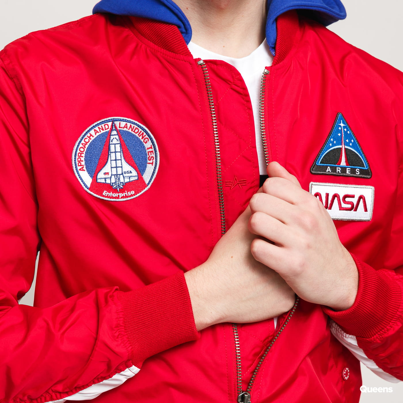 Alpha Industries MA-1 TT Hood NASA red