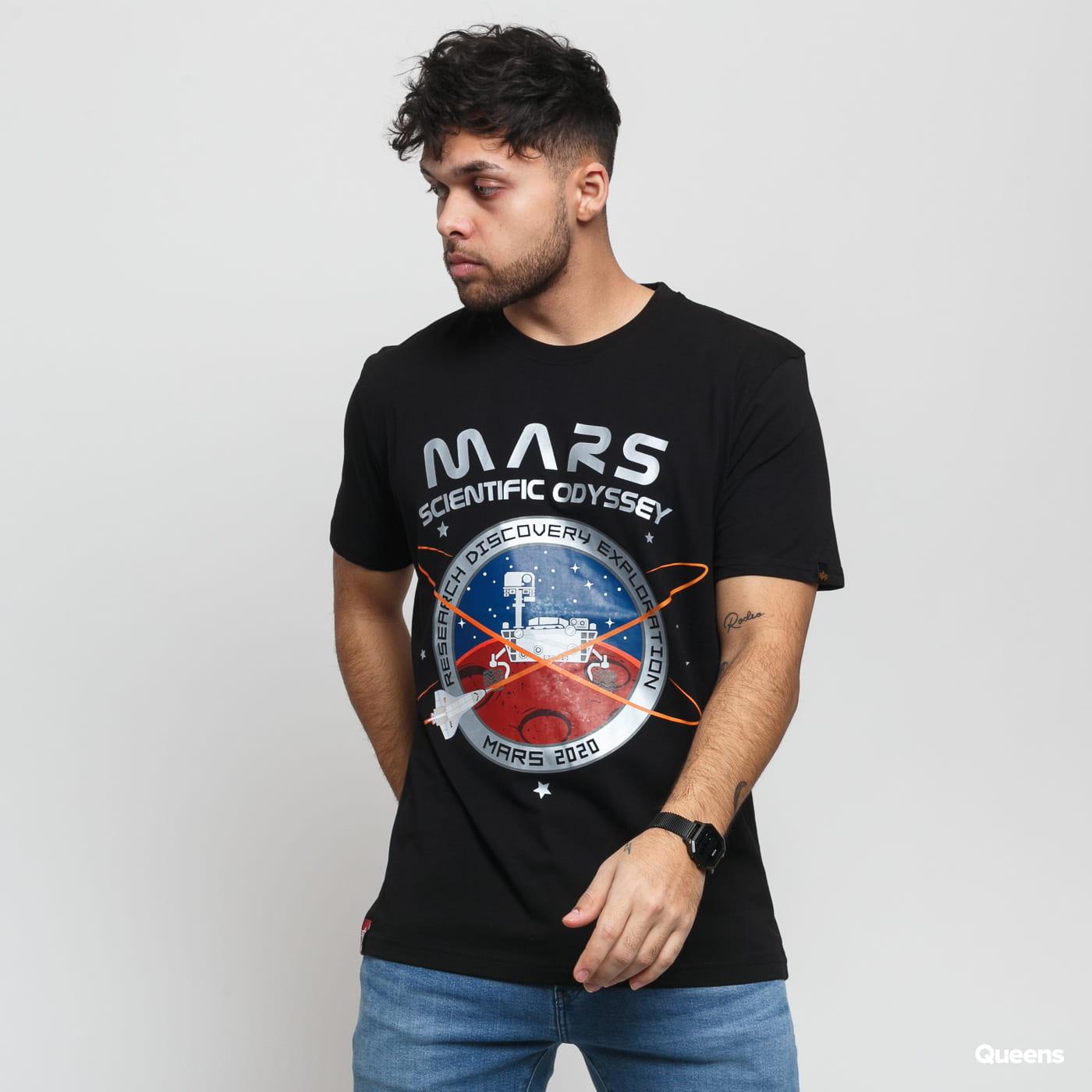 Alpha Industries Mission To Mars Tee černé