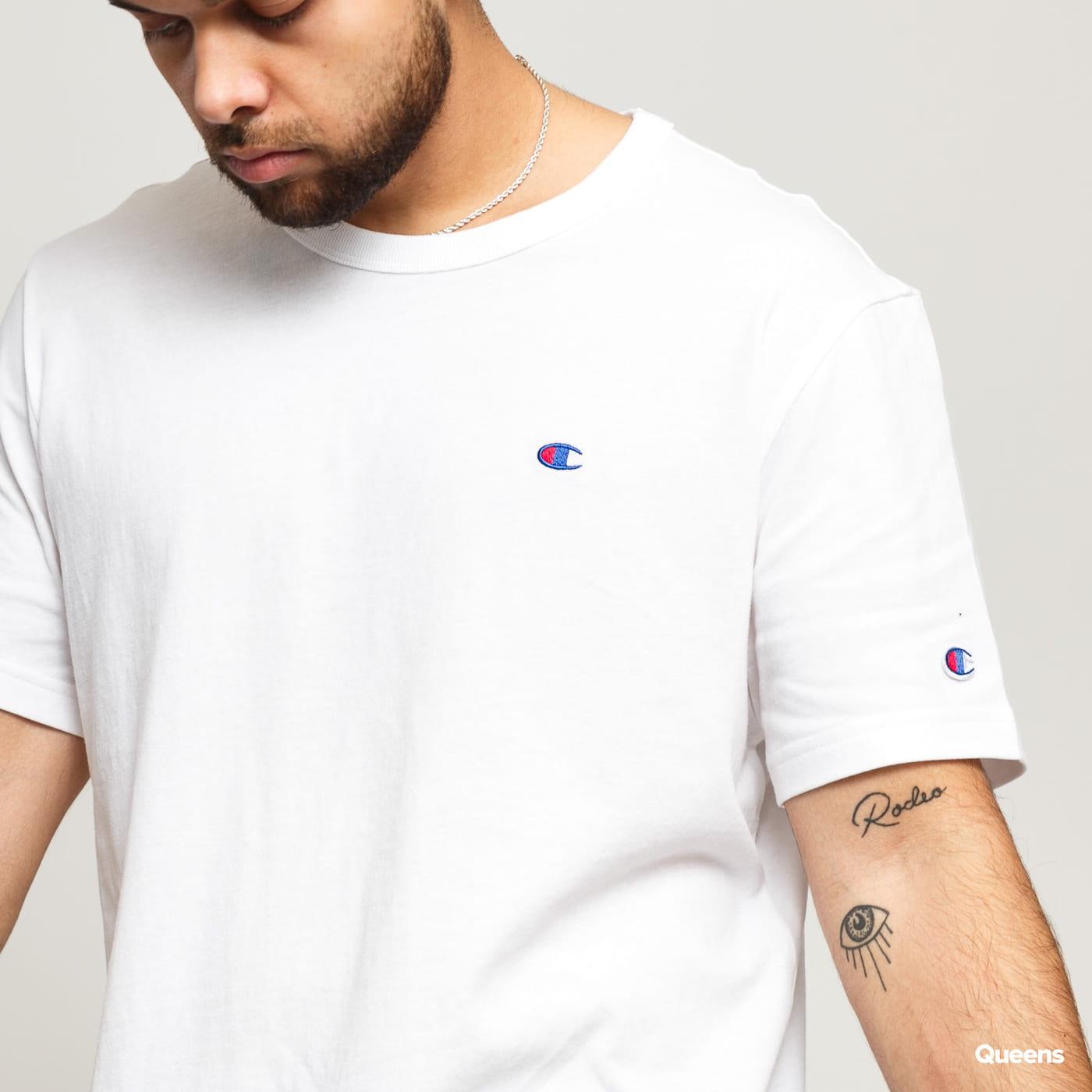Champion Crewneck T-Shirt biele