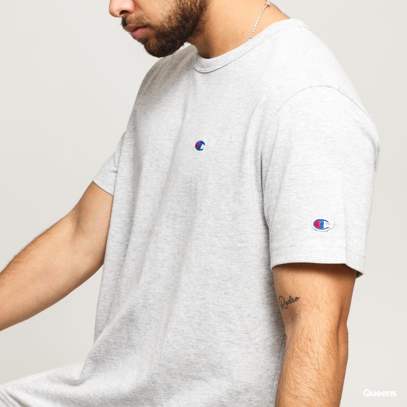 Champion Crewneck T-Shirt melange šedé