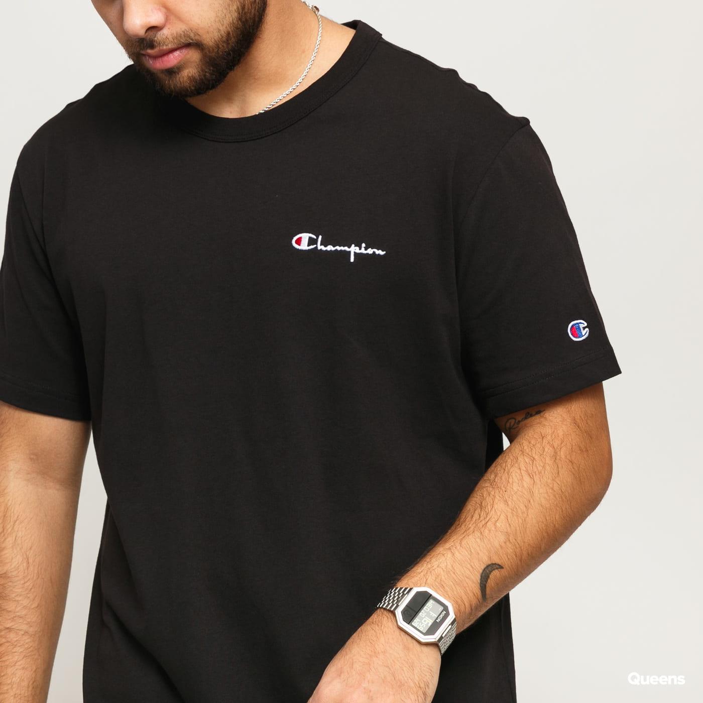 Champion Crewneck T-Shirt black satin