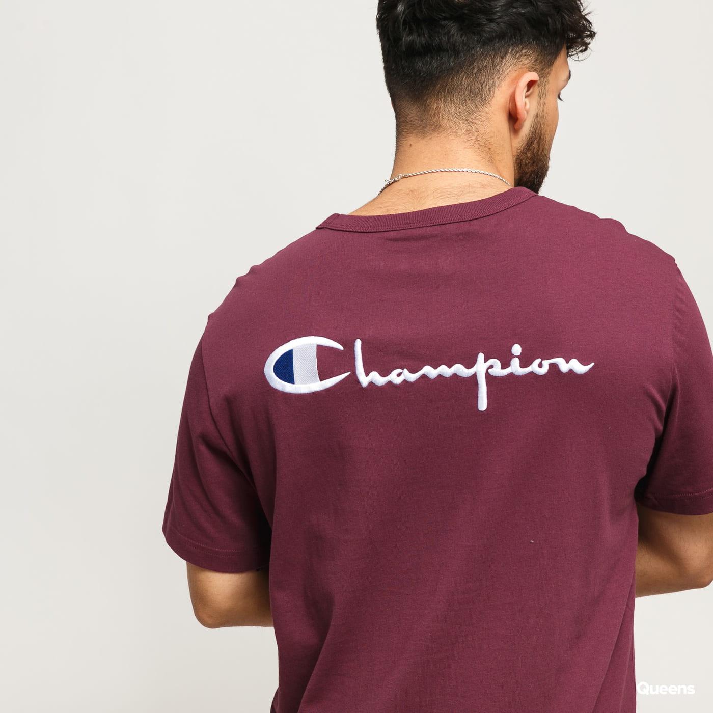 Champion Crewneck T-Shirt dunkelviolett
