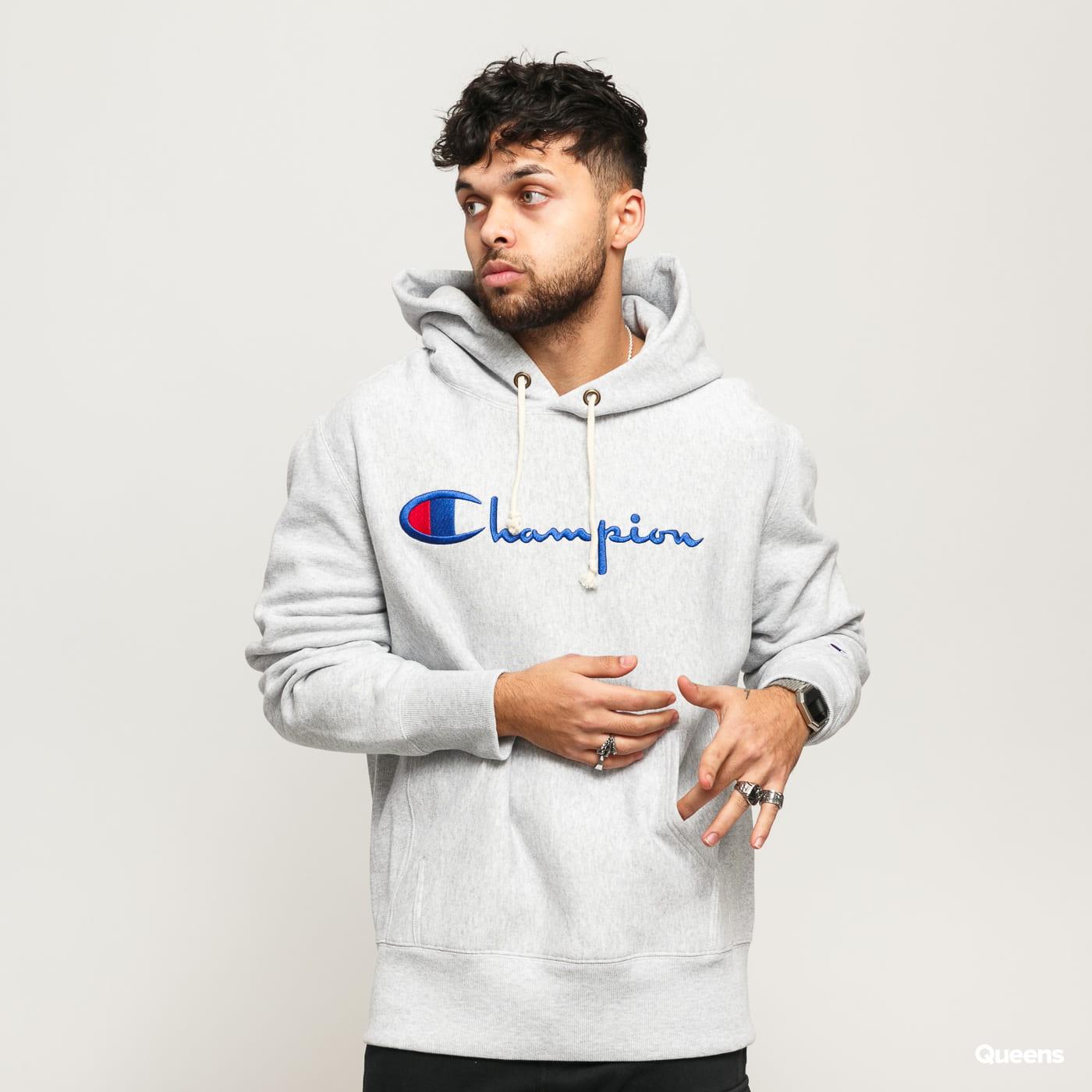 Champion Hooded Sweatshhirt melange šedá