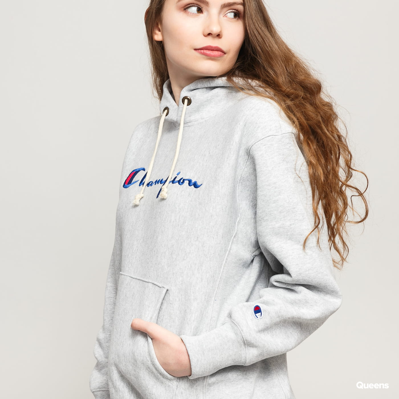 Champion Hooded Sweatshirt šedá