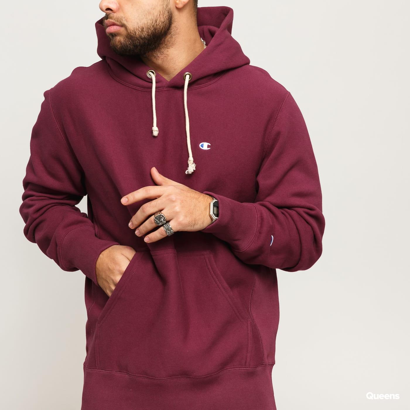 Champion Hooded Sweatshirt tmavě fialová