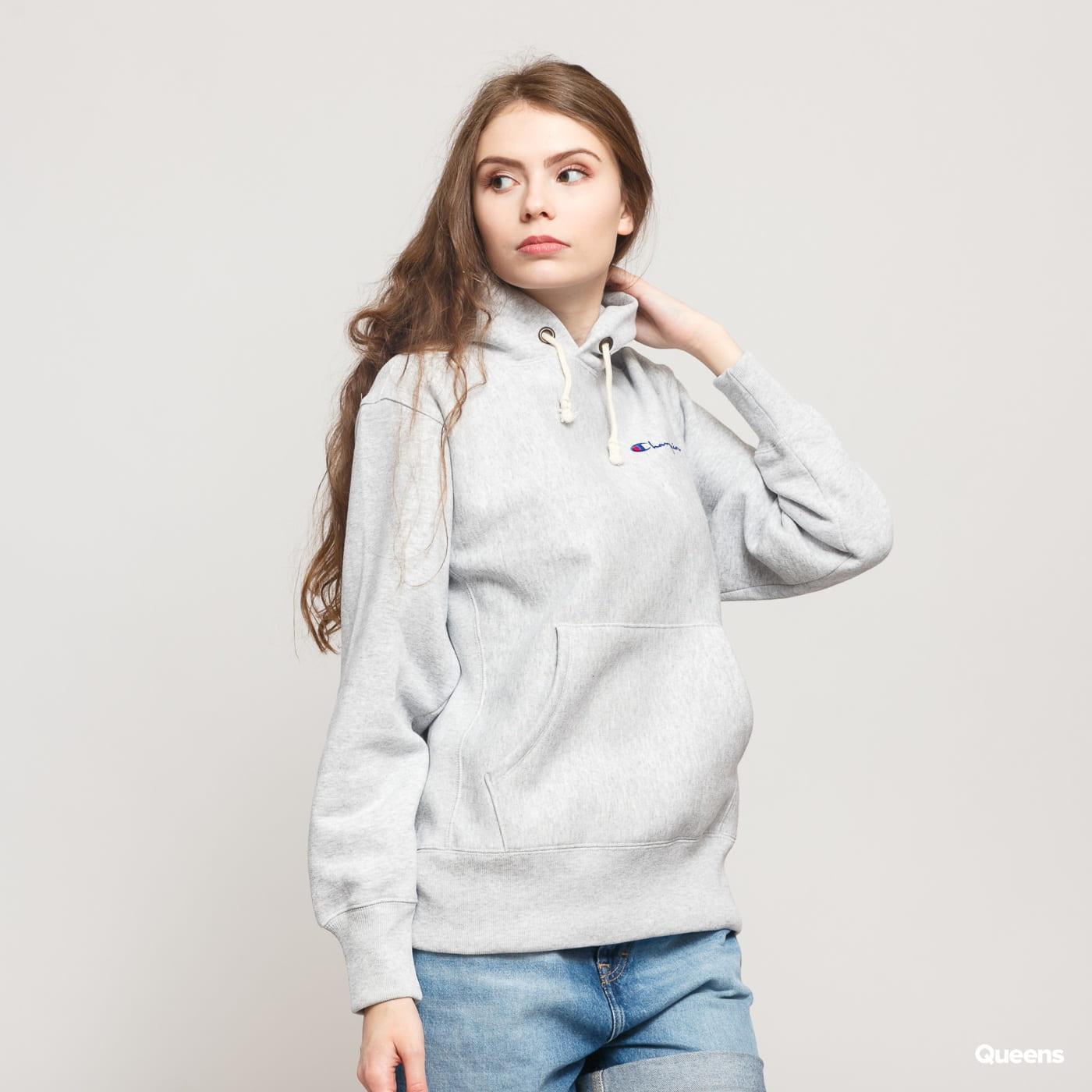 Champion Hooded Sweatshirt melange gray