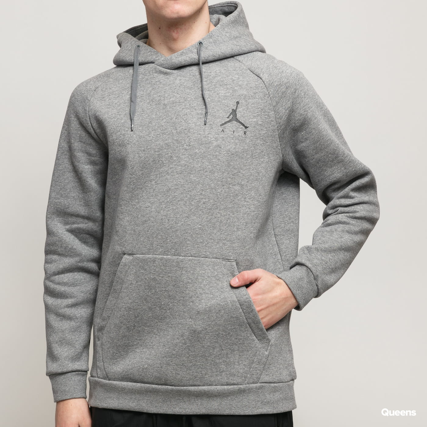 Jordan M J Jumpman Fleece PO šedá