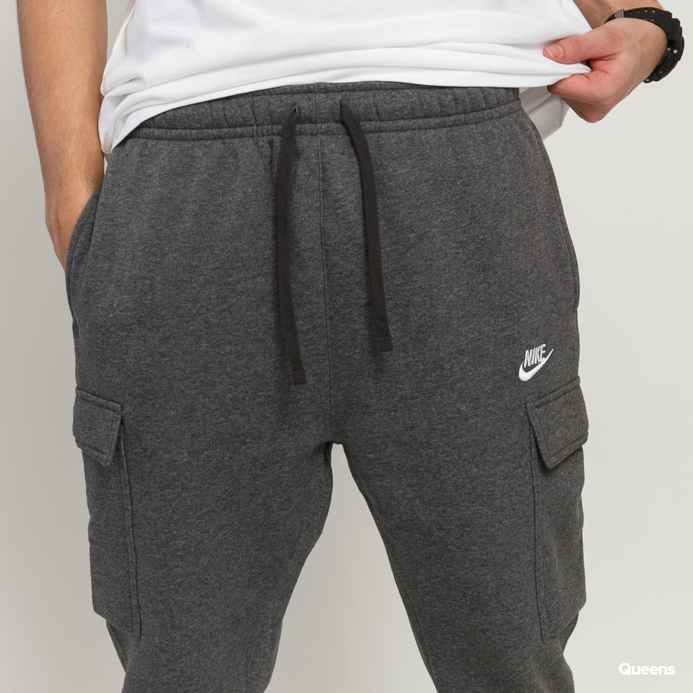 Nike M NSW Club Pant Cargo BB melange tmavošedé