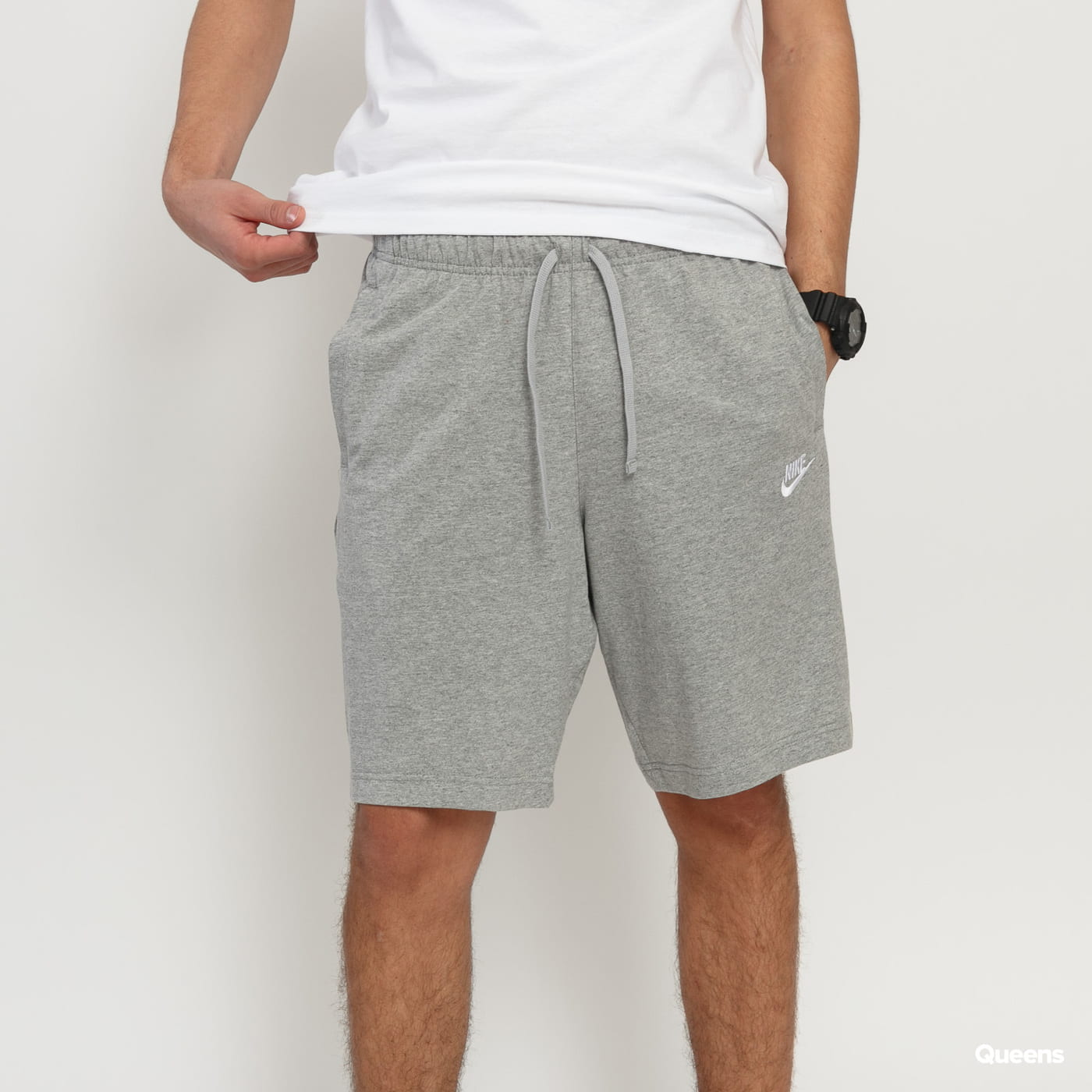 Nike M NSW Club Short Jersey grau meliert
