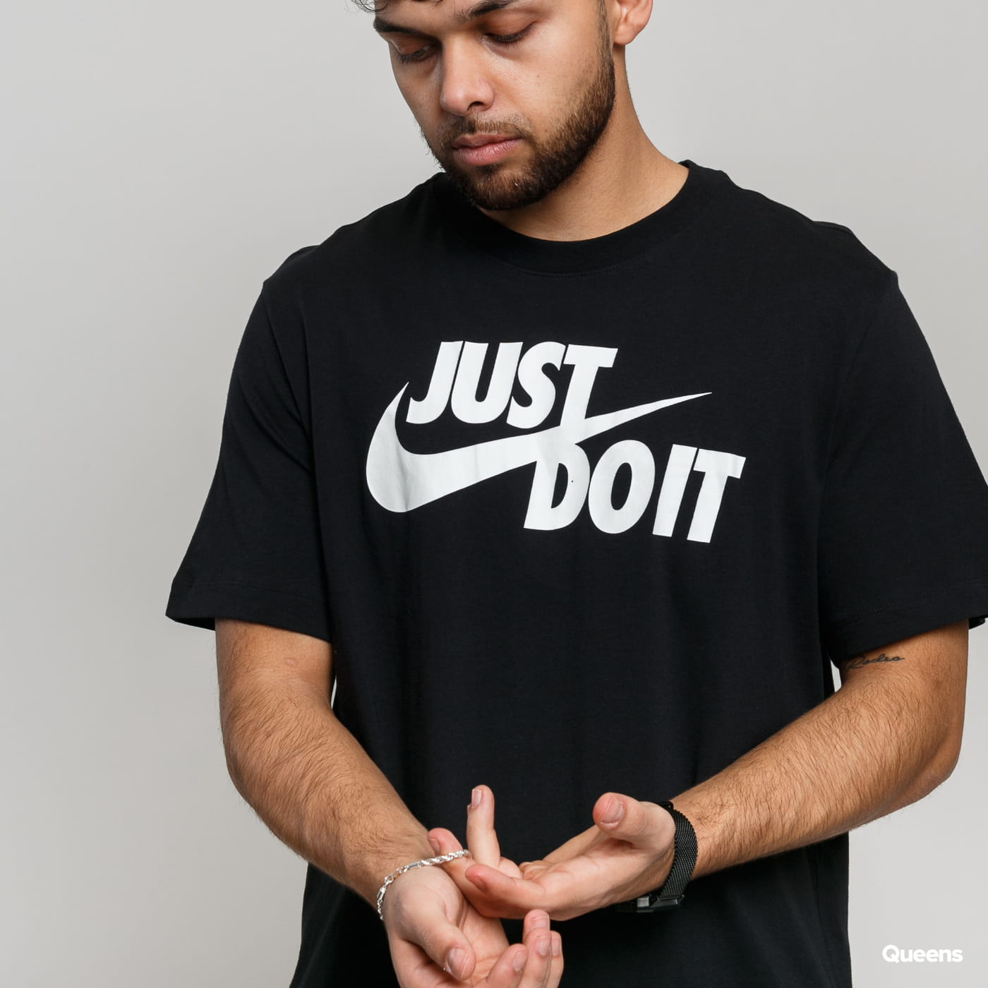 Nike M NSW Tee Just Do It Swoosh čierne