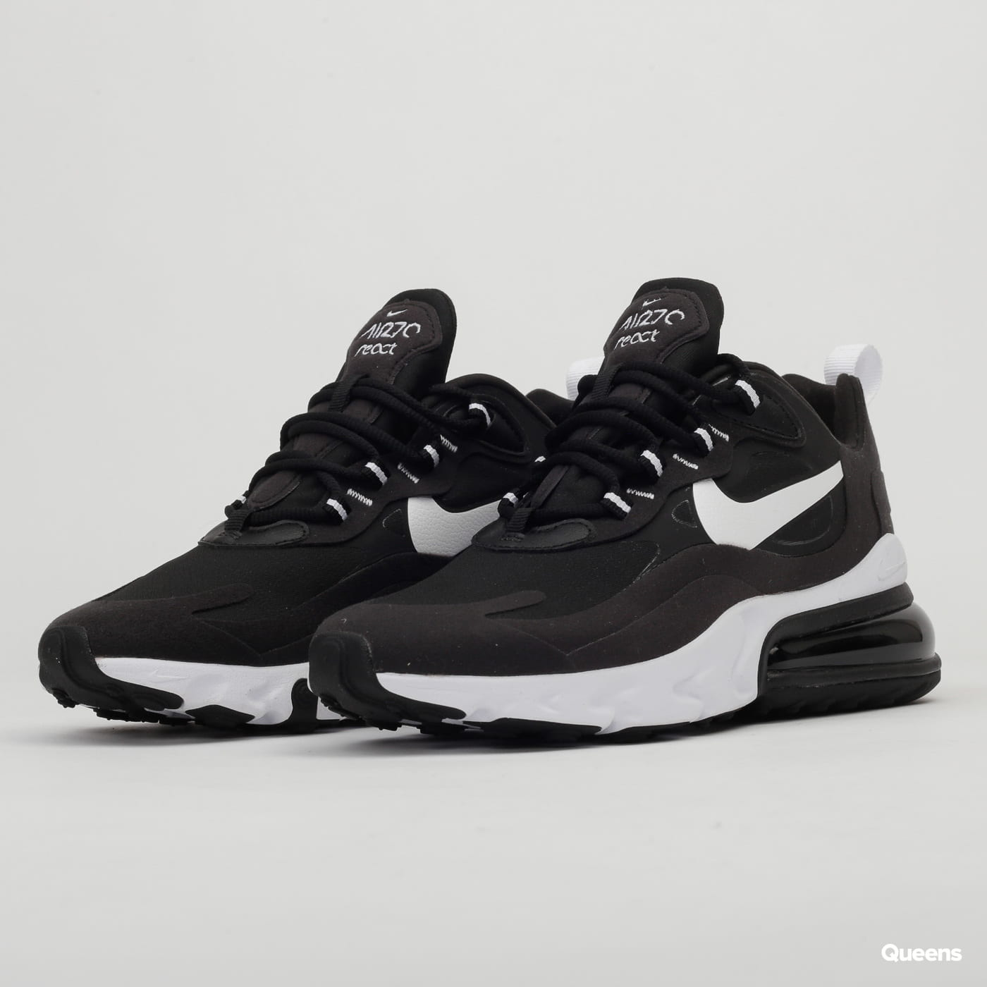 air max 270 react black and white