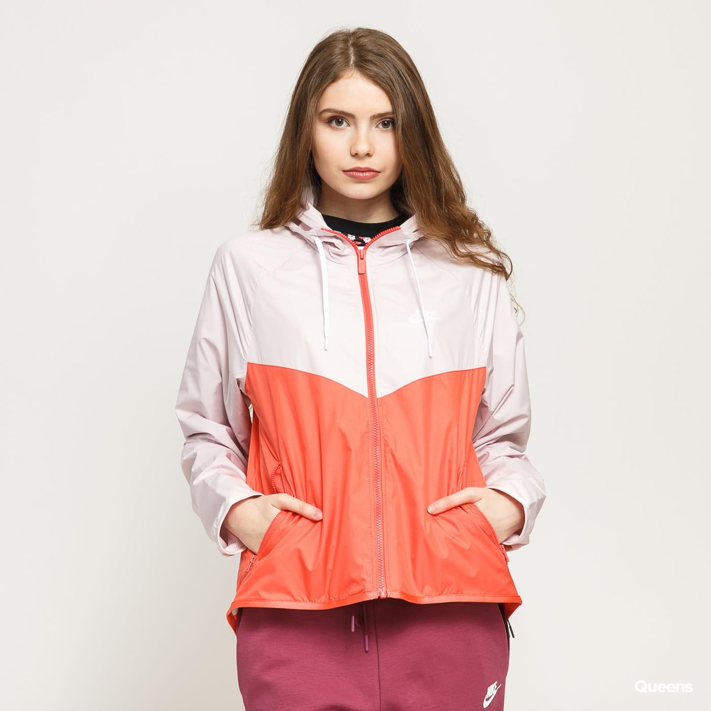 Nike W NSW WR Jacket oranžová / biela