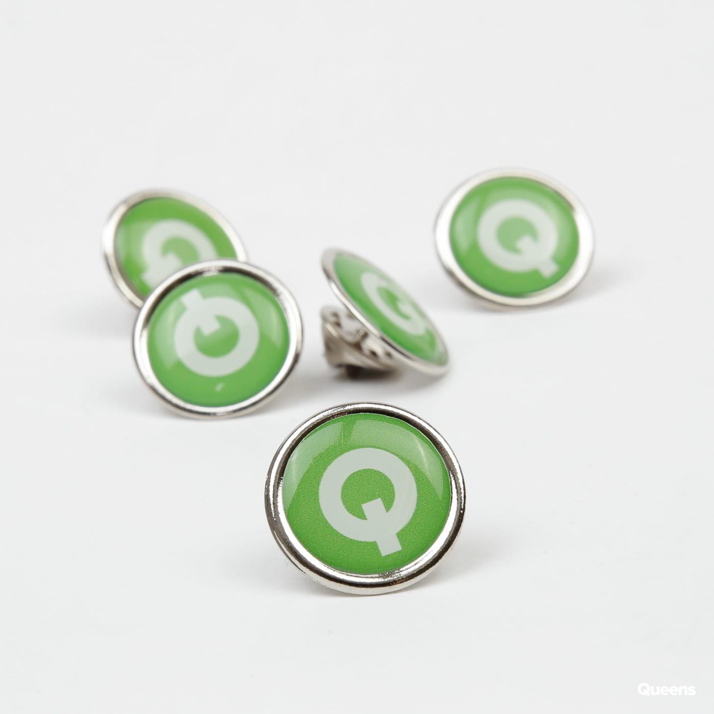Queens Button II. zelený