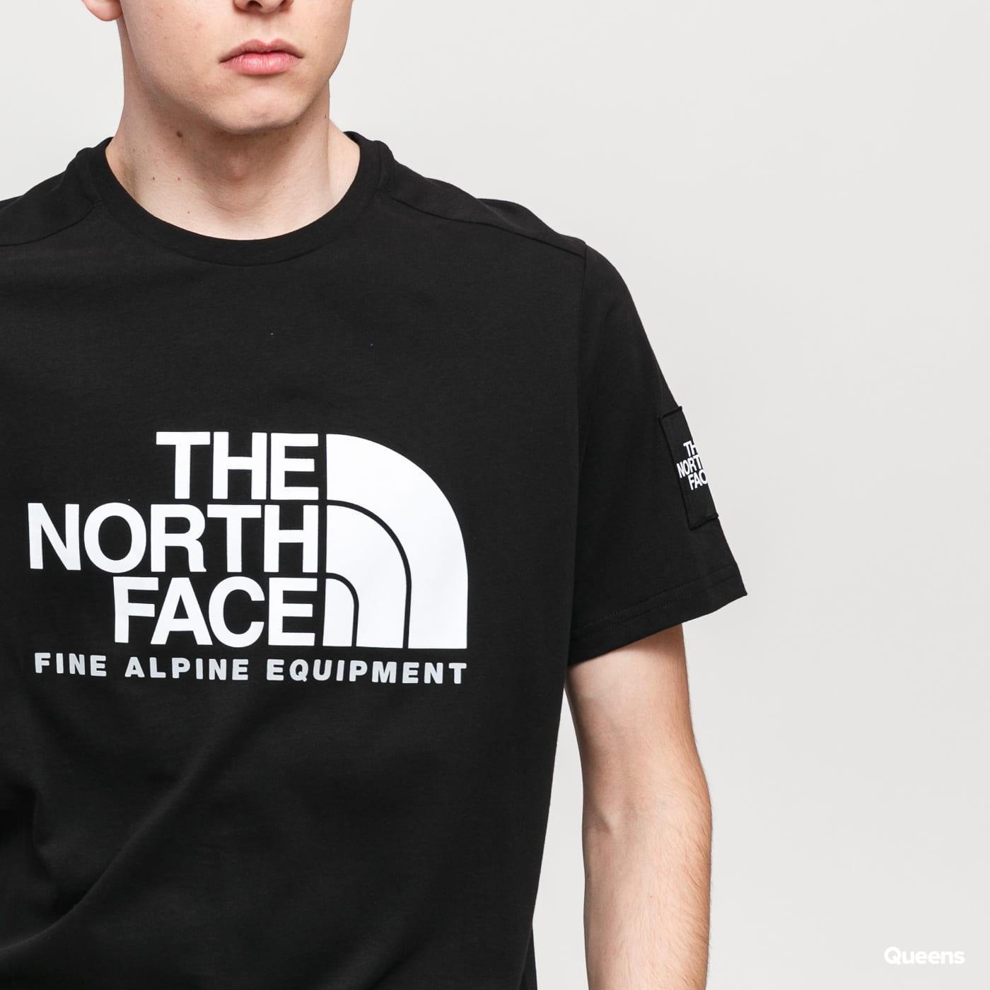 The North Face M SS Fine Alp Tee 2 čierne / biele