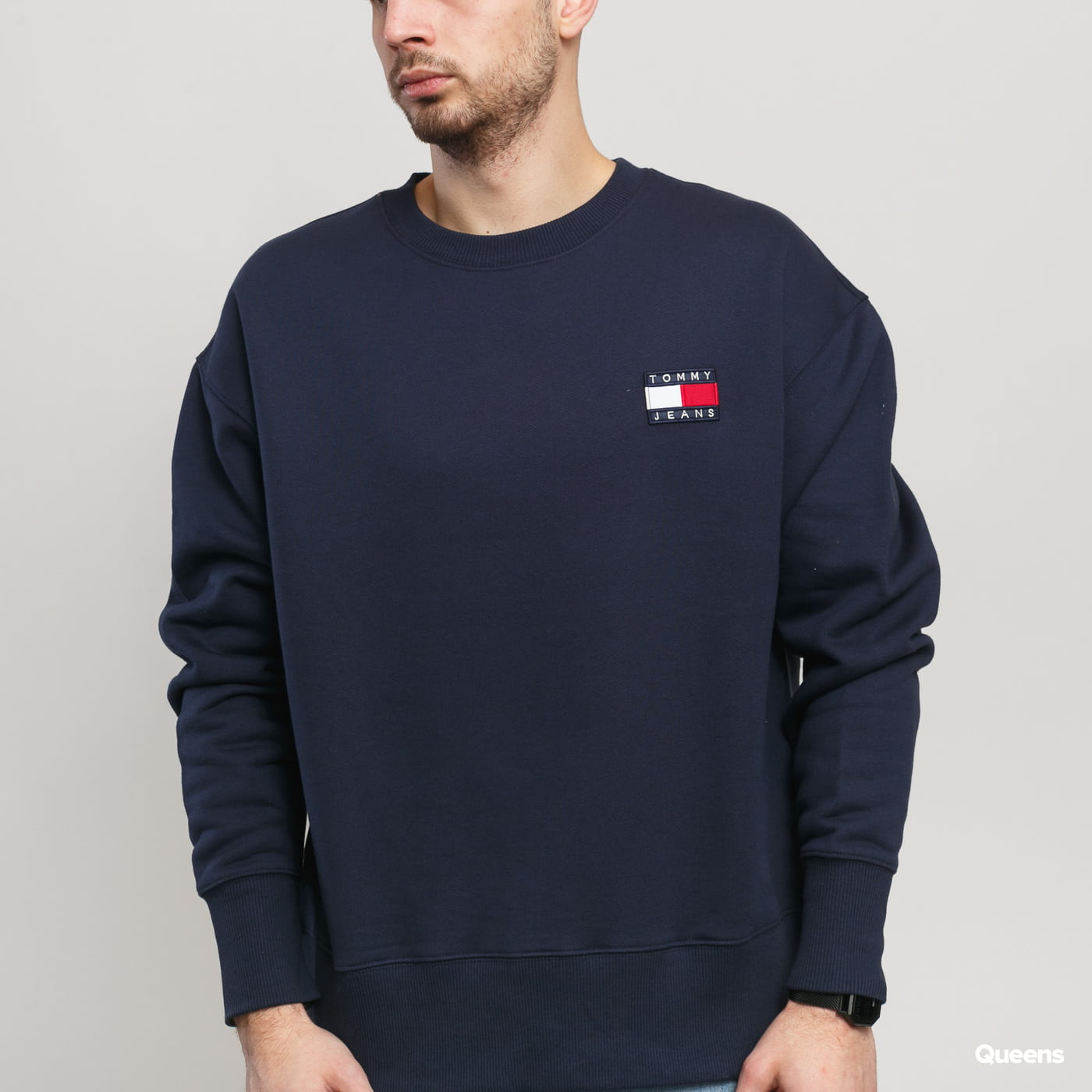 TOMMY JEANS M Tommy Badge Crew nava