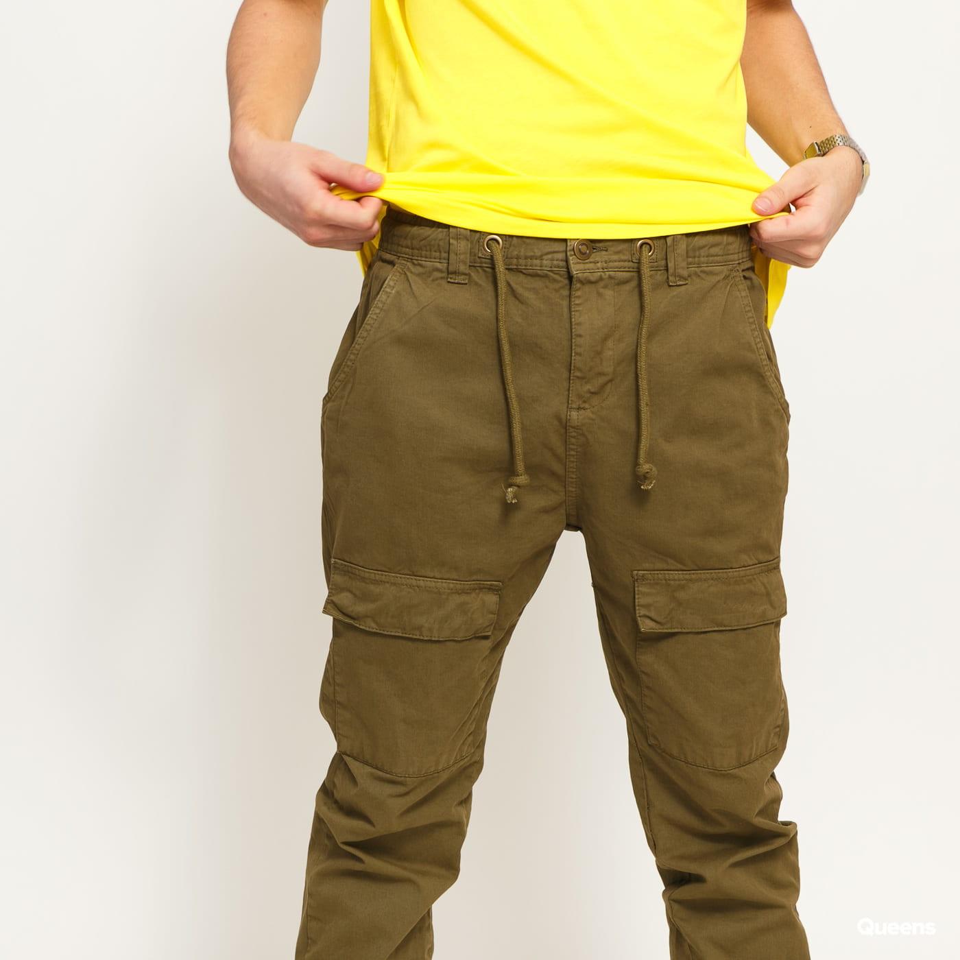 Urban Classics Front Pocket Cargo Jogging Pants olivové