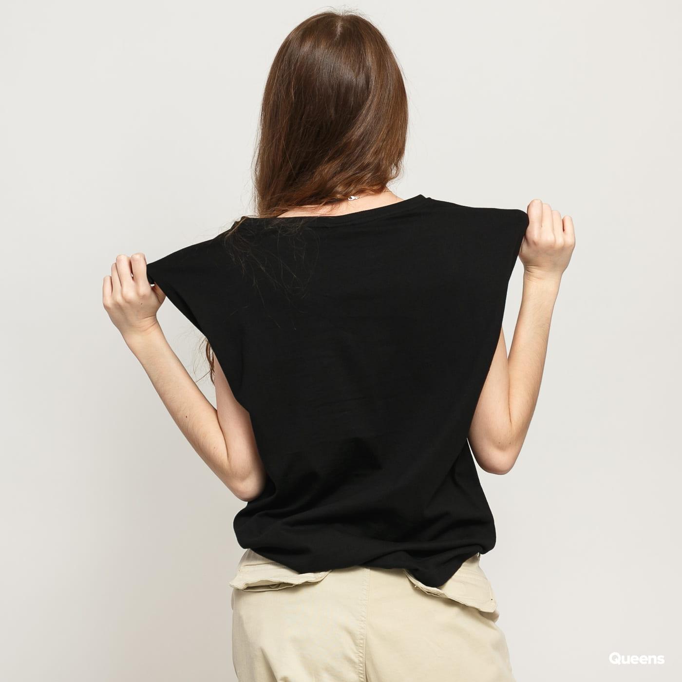 Urban Classics Ladies Basic Shaped Tee black satin