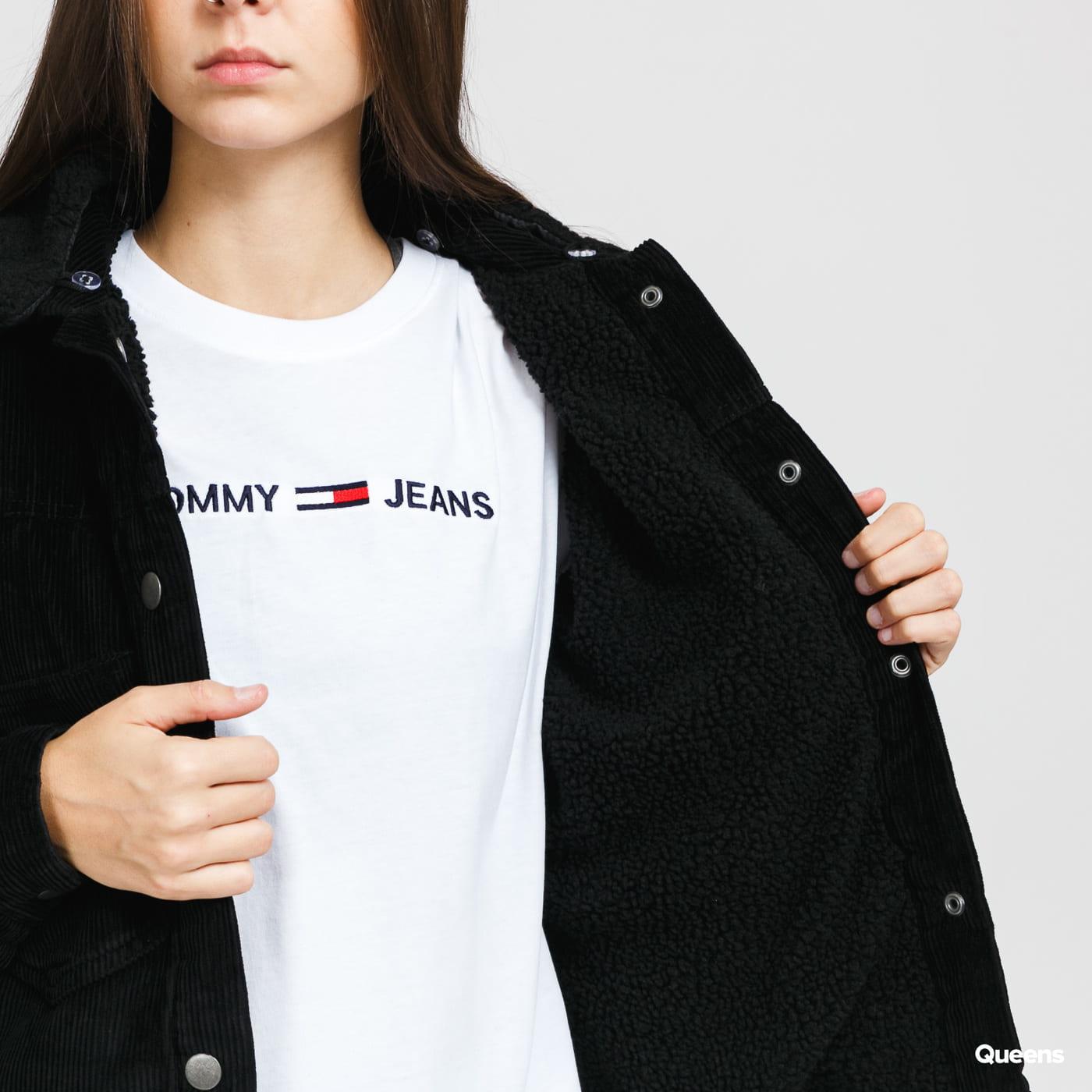 Urban Classics Ladies Oversized Corduroy Sherpa Jacket schwarz