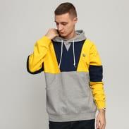 adidas Originals Hoody melange šedá / žlutá / navy