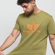 Alpha Industries Basic Tee olivové / oranžové