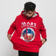 Alpha Industries Mission To Mars Hoody červená