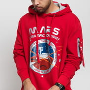Alpha Industries Mission To Mars Hoody červená