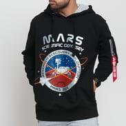 Alpha Industries Mission To Mars Hoody čierna