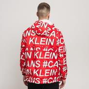 CALVIN KLEIN JEANS M Nylon Anorak červená / bílá / černá