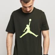 Jordan M J Jumpman SS Crew tmavě olivové