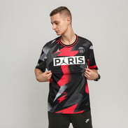 Jordan M J PSG Mesh SS Top černý / šedý / neon růžový