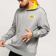 New Era NBA Piping Hoody LA Lakers melange šedá