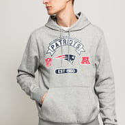 New Era NFL Graphic PO Hoody Patriots melange šedá