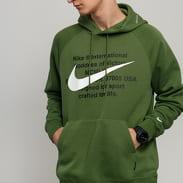 Nike M NSW Swoosh Hoodie PO tmavě zelená