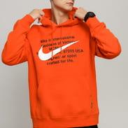 Nike M NSW Swoosh Hoodie PO oranžová