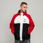 Nike M NSW Swoosh Jacket HD Woven černá / čerená / bílá