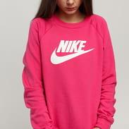 Nike W NSW Essential Crew Fleece HBR tmavě růžová