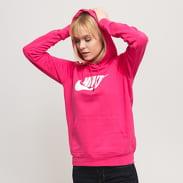 Nike W NSW Essential Hoodie PO tmavě růžová