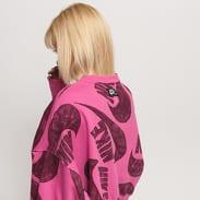 Nike W NSW Icon Clash Fleece Crew tmavě růžová / vínová