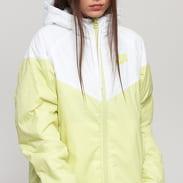 Nike W NSW Synthetic Fill Windrunner Jacket bílá / světle limetková