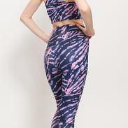Urban Classics Ladies High Waist Tie Dye Leggings navy / rosa
