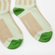 WOOD WOOD Siri Socks svetlozelené / béžové