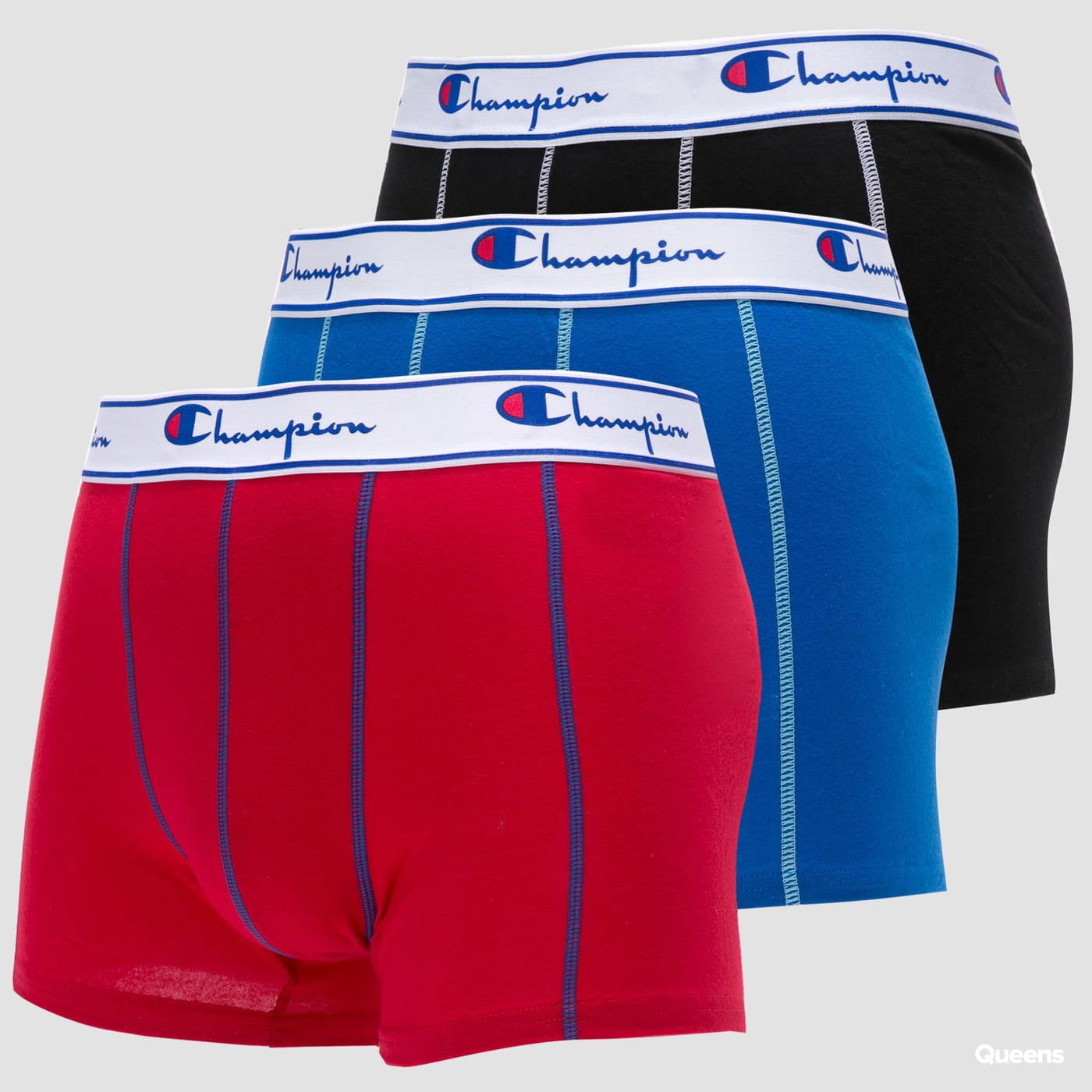 Champion BO Champ Plain 3er-Pack blau / rot / schwarz