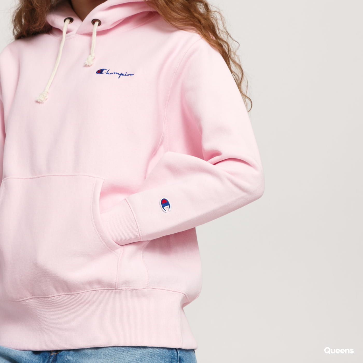 Champion Hooded Sweatshirt ružová