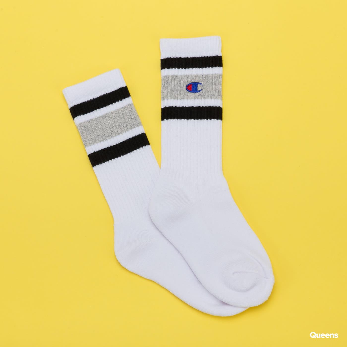 Champion Rochester Crew Sock bílé / melange šedé / černé