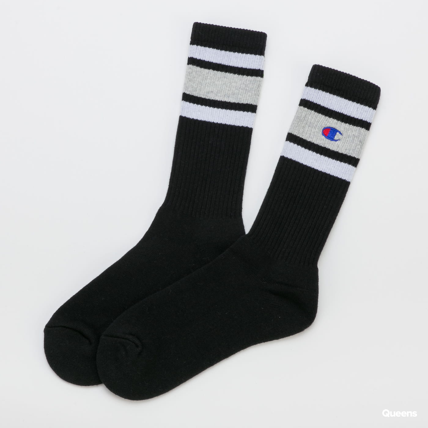 Champion Rochester Crew Sock černé / melange šedé