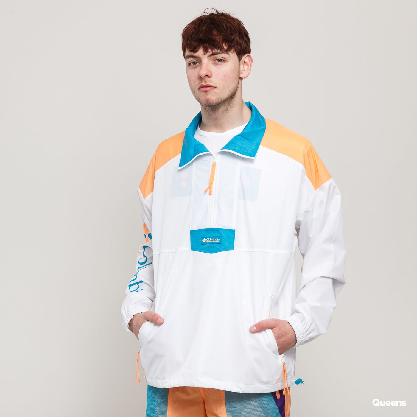Columbia Santa Ana Anorak Jacket white / orange